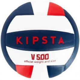 Волейбольный Мяч V500 Белый, Синий И Красный