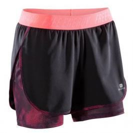 Женские Шорты 2 В 1 Для Фитнеса И Кардиотренировок Черные И Розовые 500
