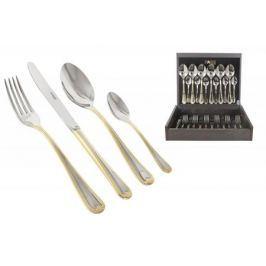 Face Набор столовых приборов 24 предмета на 6 персон Santorini Gold