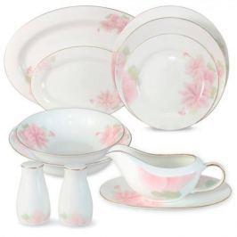 Anna Lafarg Emily Обеденный сервиз Розовые цветы 27 предметов на 6 персон