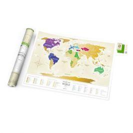 1DEA.me Карта travel map gold world ru