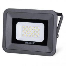 Wolta Светодиодный прожектор WFL-20W/06, 5500K, 20 W SMD, IP 65,цвет серый, слим