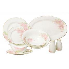 Emerald Обеденный сервиз Розовые цветы 50 предметов на 12 персон