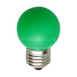 Лампа светодиодная Feron LB-37 E27 220В 1Вт зеленый цвет 25117