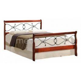 Кровать двуспальная Петроторг 6132 дуб/черный