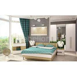Гарнитур для спальни Столлайн Ирма 9 дуб сонома/белый глянец