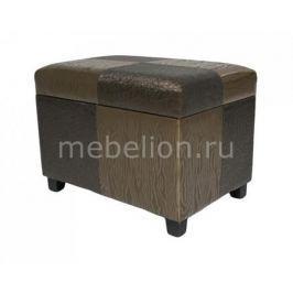 Банкетка Петроторг с ящиком для хранения 2553L коричнево-золотая