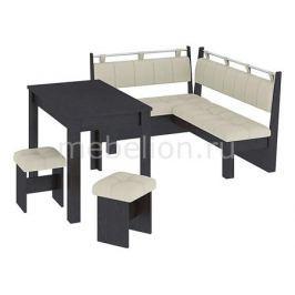 Набор кухонный Мебель Трия Уголок кухонный Омега венге цаво/лён бежевый