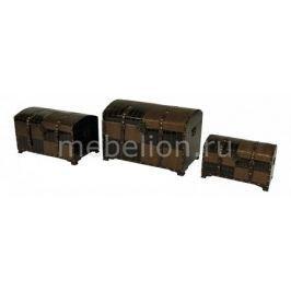 Набор сундуков Петроторг 2554L/2554M/2554S коричневый