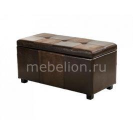 Банкетка Петроторг с ящиком для хранения 2552BL коричневая
