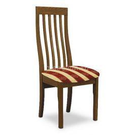 Стул мягкий Мебель Трия Стул Вагнер Т1 СМ-231.2.001 орех/бежевый в бордовую полоску
