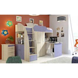 Гарнитур для детской Мебель Трия Радуга-2+Индиго ГН-84.00.022 ясень коимбра/навигатор