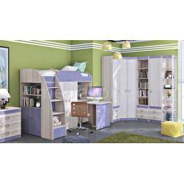 Гарнитур для детской Мебель Трия Радуга-2+Индиго ГН-84.00.021 ясень коимбра/навигатор