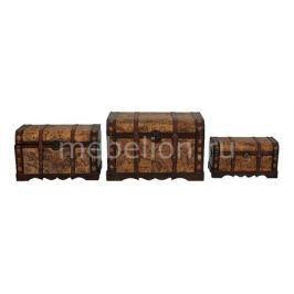 Набор сундуков Петроторг 2580 коричневый с рисунком