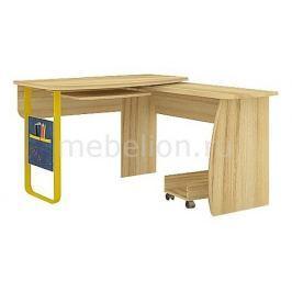 Стол компьютерный угловой Любимый Дом Джинс 507.080 сантана/джинс/желтый бриллиант
