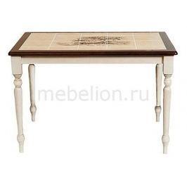 Стол обеденный Tetchair СТ 3045Р белый античный/темный дуб