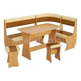 Набор кухонный Мебель Трия Уголок кухонный Уют-1 К Люкс ольха/бук/коричневый