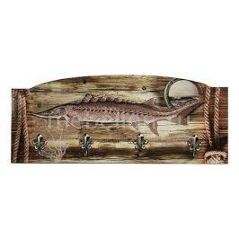 Настенная вешалка Акита (60х25 см) Рыба S28