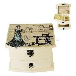 Шкатулка для украшений Акита (19х16 см) Прованс-AKI HL249A