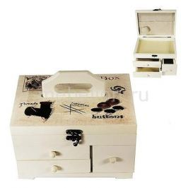 Шкатулка для украшений Акита (21.5х19 см) Прованс-AKI HL289C