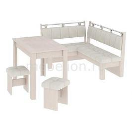 Набор кухонный Мебель Трия Уголок кухонный Омега дуб белфорт/лён бежевый