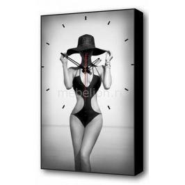 Настенные часы Brilliant (37х60 см) Женщина в шляпе BL-2302