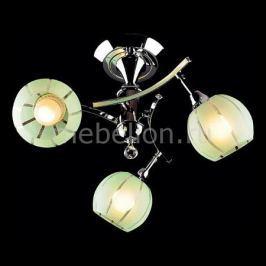Люстра на штанге Eurosvet 3353-3457 3353/3 хром/зеленый