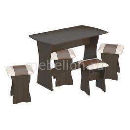 Набор кухонный Мебель Трия тип 1 венге/«Санчо»/коричневый