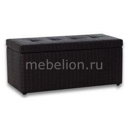 Банкетка-сундук Dreambag Лонг черная ребристая
