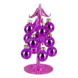 Ель новогодняя с елочными шарами АРТИ-М (15 см) ART 594-083