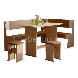 Набор кухонный Мебель Трия Уголок кухонный Амиго ольха/коричневый/бежевый
