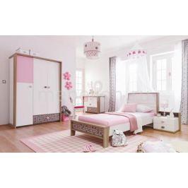 Набор для детской New Joy Гарнитур для детской Pink Point белый/коричневый/розовый