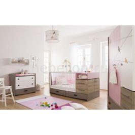 Набор для детской New Joy Гарнитур для детской Pink Birdy серый/розовый