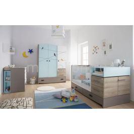 Гарнитур для детской New Joy Blue Birdy серый/голубой