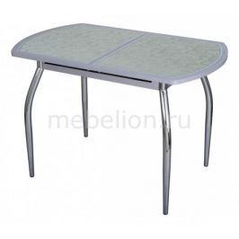 Стол обеденный Домотека Чинзано ПО со стеклом и экокожей
