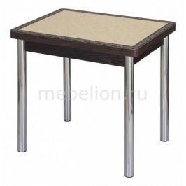 Стол обеденный Домотека Чинзано М-2 со стеклом и экокожей