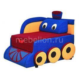 Диван-кровать Олимп-мебель Мася-7 Паровозик 8121127 синий/красный/желтый