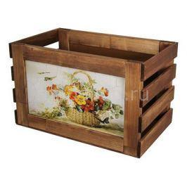 Ящик декоративный Акита Корзина с цветами 807