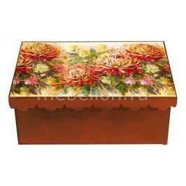 Шкатулка декоративная Акита (26х18х13 см) Хризантема 1826-5