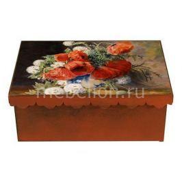 Шкатулка декоративная Акита (26х18х13 см) Маки 1826-16