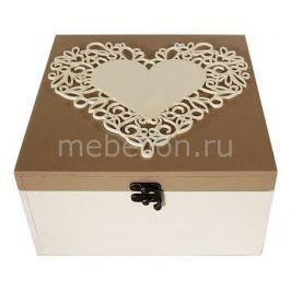 Шкатулка декоративная Акита (24х24х13 см) Сердце 1012