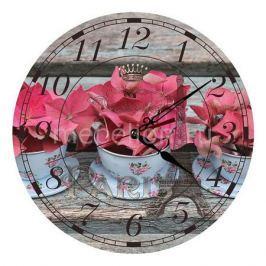 Настенные часы Акита (30 см) Гортензия C52