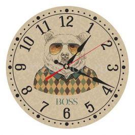 Настенные часы Акита (30 см) Медведь AC26
