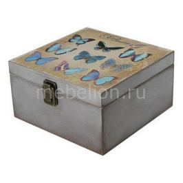 Шкатулка декоративная Акита (24х24х13 см) Бабочки 1012-9