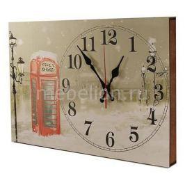 Настенные часы Акита (42.5х30 см) Зимний пейзаж 3042-1