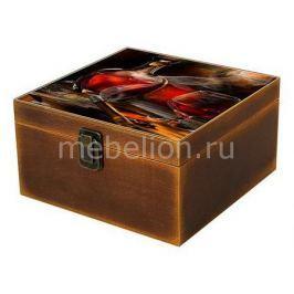 Шкатулка декоративная Акита (24х24х13 см) Вино 1012-5