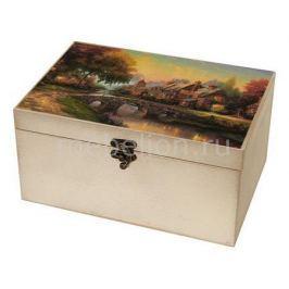 Шкатулка декоративная Акита (26х18х11.5 см) Сказочный пейзаж 1725-15W