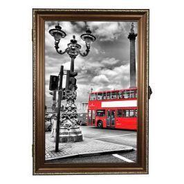 Ключница Акита (24х34 см) Красный автобус 312-39