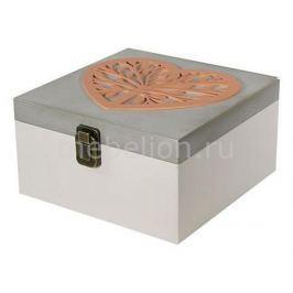 Шкатулка декоративная Акита (24х24х13 см) Сердце 1012-7