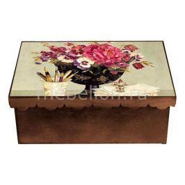 Шкатулка декоративная Акита (26х18х13 см) Пионы 1826-8